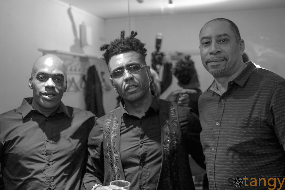 Singer Omar , DJ DLux and friend