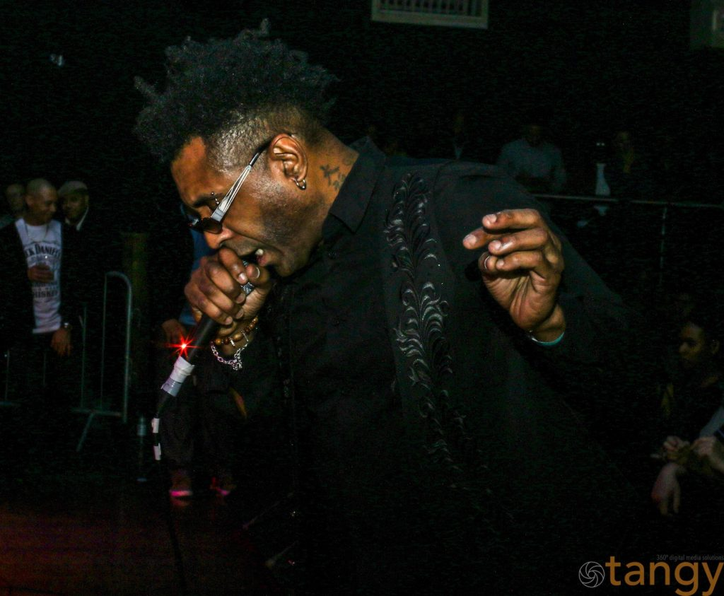 Omar onstage